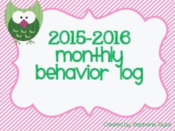 Owl Behavior Logs for 2015-2016