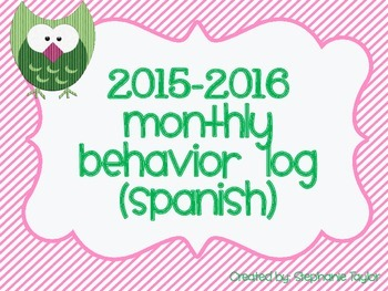 Owl Behavior Logs for 2015-2016 in Spanish