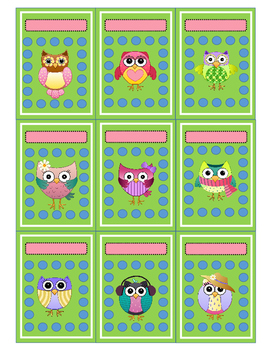 Owl Behavior Punch Card