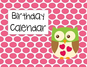 Owl Birthday Calendars
