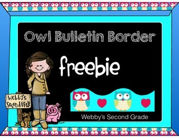 Owl Bulletin Board Freebie