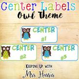 Owl Center Labels