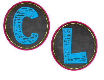 Owl Chalkboard Classroom Library Sign