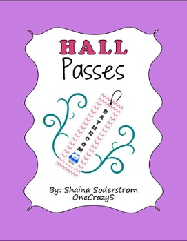 Owl Chevron Hall Passes - Bathroom Passes