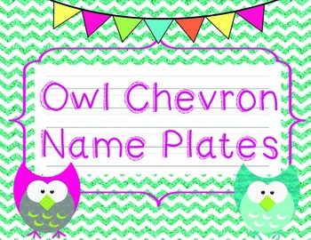 Owl Chevron Name Plates