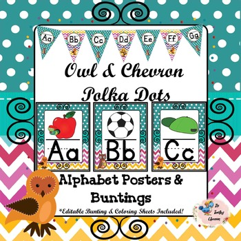 Alphabet Posters {Owl, Chevron, Polka Dots}