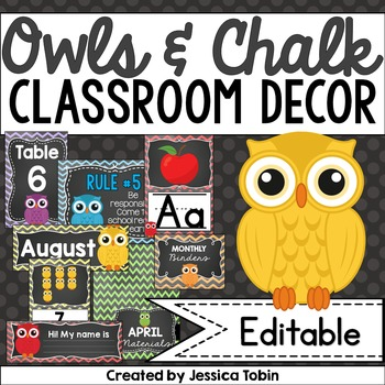 Owl Themed Classroom Decor