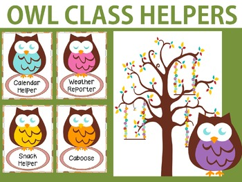 Owl Class Helpers Chart and Cards