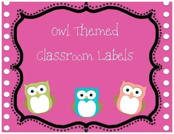 Owl Classroom Labels