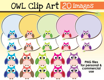 Owl Clip Art Pack