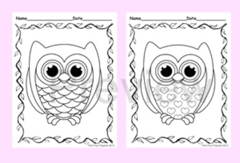 Owl Coloring Pages - 8 Designs