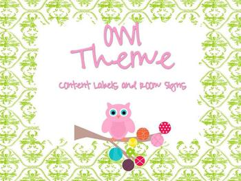 Owl Content Headings and Room Signs