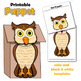 Owl Craft Activity | Paper Bag Puppet Template