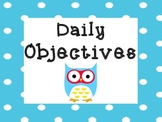 Owl Objectives Board