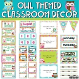 Owl Classroom Decor Bundle {With Owls, Chevron, Stripes an