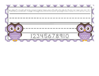 Owl Desk Name Plates {one name and two names}