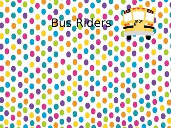 Owl Dots Car/Bus Rider poster