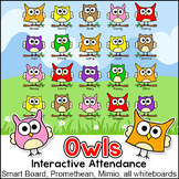 Owl Theme Attendance for All Interactive Whiteboards and S