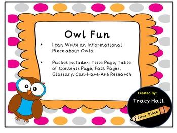 Owl Fun- Informative Writing