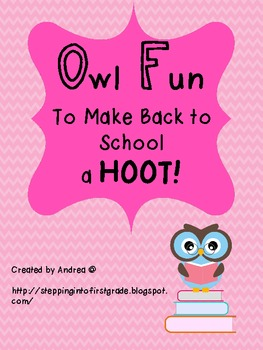 Owl Fun to Make Back to School a HOOT!