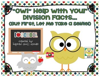Owl Themed Division Facts Cards