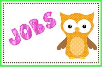 Owl Job Chart