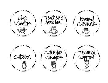 Job Labels - Owls
