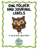 Owl Journal and Folder Labels freebie