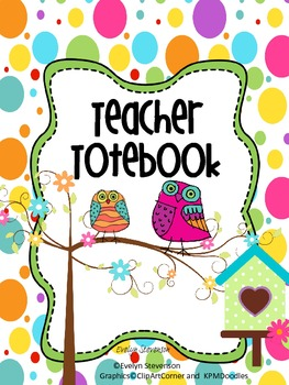 Owl LaLa Teacher Totebook