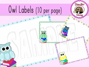 Owl Labels: Avery 5163 (10 per page)