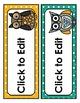 Owl Labels: Editable