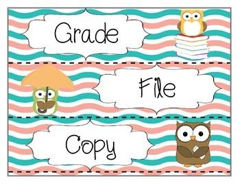 Owl Labels (Freebie)