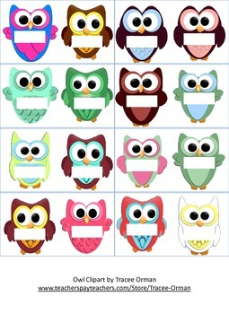 Owl Magnet Template