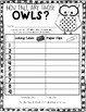 Owl Measuring Math Game --- How Tall Are Those Owls? --- F