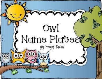 Owl Name Plates