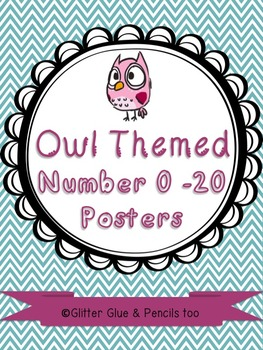 Owl Number 0-20 Posters