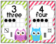 Owl Number Posters- Bright Colors