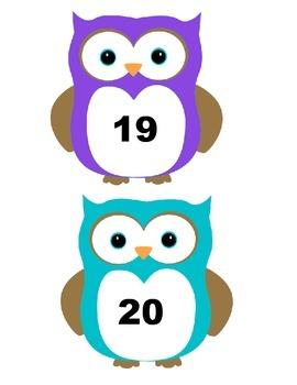 Owl Numbers 1-22