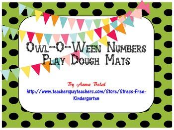 Owl-O-Ween Numbers Play Dough Mats