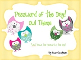 Owl Password of the Day