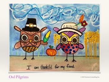 Owl Pilgrims - Thanksgiving Art Lesson