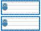Owl Rainbow Desk Tags