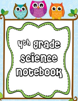 Editable Owl Science Notebook Cover
