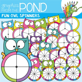 Owl Spinners Clipart