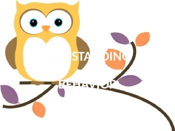 Owl-Standing Behavior Chart