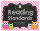 Owl-Standing Kindergarten Common Core Poster Display and I