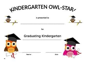 Owl Star Graduating Certificate