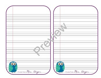 Free Owl Stationary Paper