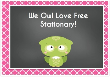 Owl Stationary/Post Cards/Writing