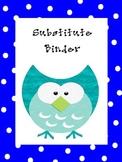 Owl Substitute Teacher Binder